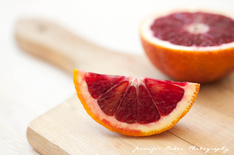 blood oranges, blood orange, blood orange salad, food photography