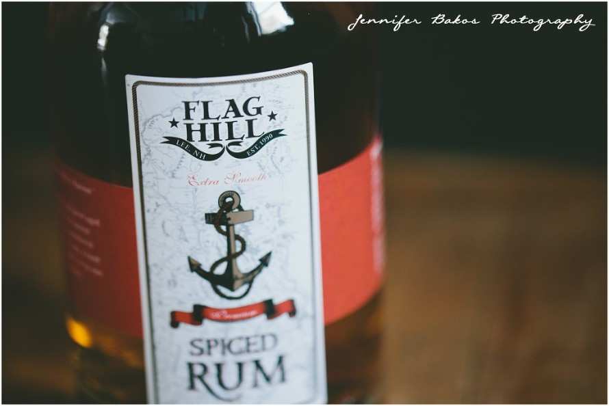 Flag hill Distillery Spiced Rum, rum drinks, local beverages, local recipes, small business, new england, food and drink, food photographer, rum cocktail, new england rum trail, beer,